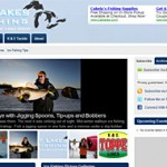 Screen shot of the community Wordpress site GreatLakesIceFishing.com